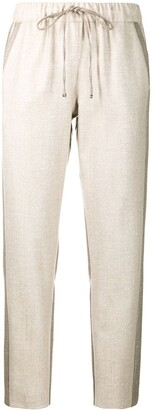 D-Exterior Colour-Block Wool-Blend Trousers