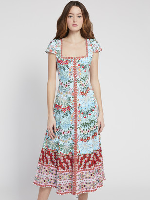 Alice + Olivia Estrella Floral Midi Dress