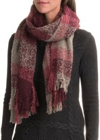 Woolrich Boucle Plaid Wrap Scarf (For Women)