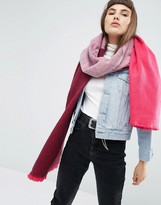 Asos Supersoft Long Woven Scarf in Color block