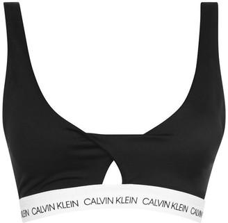 Calvin Klein Logo Twist Bikini Top