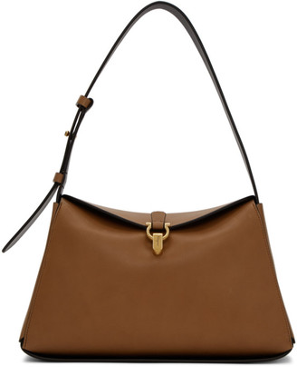 Salvatore Ferragamo Brown New Line Shoulder Bag