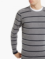 S.n.s. Herning Grey Textured Cotton Trilemma Sweater