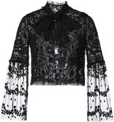 Needle & Thread lace frilled collar jacket - women - Nylon - 0