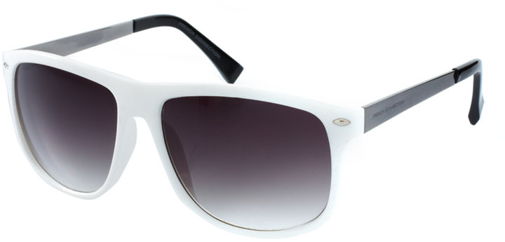 French Connection White Frame Sunglasses