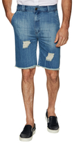 I Love Ugly Woven Distressed Denim Shorts