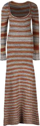 Jacquemus Perou Long Knitted Striped Dress