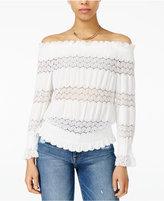 J.o.a. Crochet-Lace Off-The-Shoulder Top