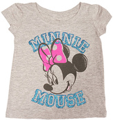 Freeze Heather Gray Minnie Mouse Cap-Sleeve Tee - Toddler