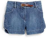 Chloé Girl's Scalloped Denim Shorts
