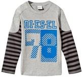 Diesel Grey Motocross Long Sleeve Tee