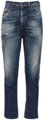 Diesel D-Vider Carrot Cotton Blend Denim Jeans