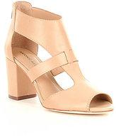 Antonio Melani Skarly Leather Peep-Toe Block Heel Sandal