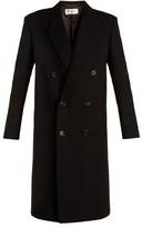 Saint Laurent Peak-lapel wool-blend felt coat