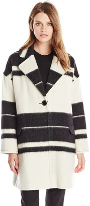 Helene Berman Women's Stripe Edge to Edge Coat