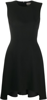 Alexander McQueen Asymmetric-Hem Fitted Short Dress