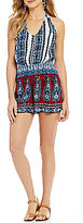 Patrons Of Peace Paisley-Printed Halter Neck Romper