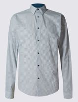 Marks and Spencer Slim Fit Pure Cotton Long Sleeve Shirt