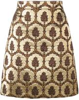 Gucci jacquard mini skirt - women - Silk/Acrylic/Polyamide/Wool - 40