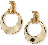 Akola Raffia Front-Facing Hoop Earrings
