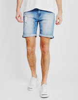 Cheap Monday High Cut Future Denim Shorts Blue