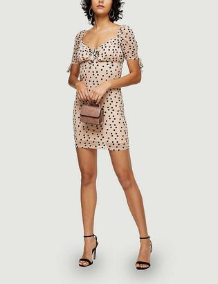 Topshop Polka dot woven mini dress