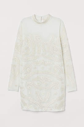 H&M Dress with beaded embroidery