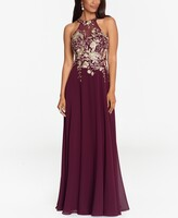 Thumbnail for your product : Betsy & Adam Embellished Chiffon Illusion Gown