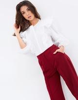 Mng Ruffled Cotton Bodysuit