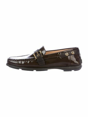 Louis Vuitton Monogram Pattern Patent Leather Loafers