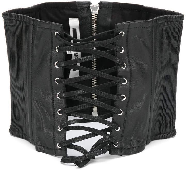 McQ ribbed corset