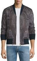 Etro Paisley-Print Zip-Up Bomber Jacket, Multi
