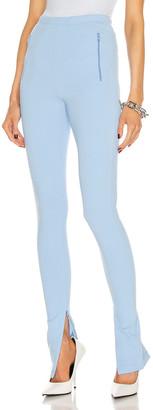 Wardrobe NYC Side Split Legging in Mid Blue | FWRD
