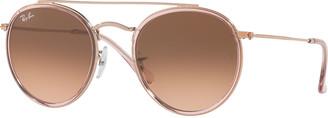 Ray-Ban Round Gradient Metal Sunglasses