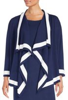 St. John Draped Open-Front Cardigan