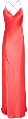 Mason by Michelle Mason Silk Maxi Wrap Dress