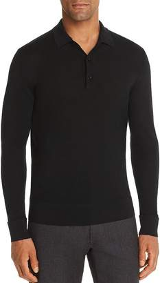 Bloomingdale's The Men's Store at Long-Sleeve Knit Classic Fit Polo Shirt - 100% Exclusive