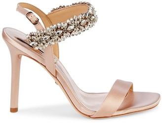 Badgley Mischka Lilly Embellished Stiletto Slingback Sandals