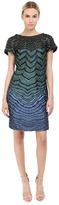 Alberta Ferretti Short Sleeve Zigzag Dress Women's Dress