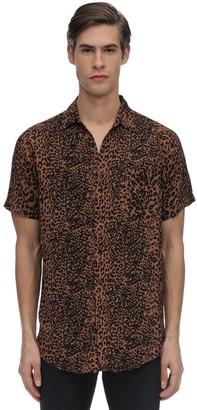 The People Vs Stevie Wild Cat Print Rayon Shirt