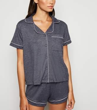 New Look Revere Collar Jersey Pyjama Set