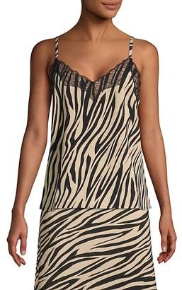 Sanctuary Zebra-Print Lace Camisole