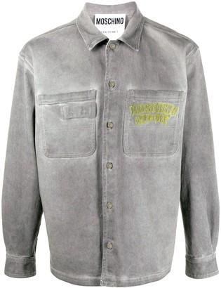 Moschino Washed Boxy Shirt Jacket