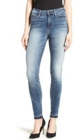 Good American Women's Good Legs Released Hem Skinny Jeans