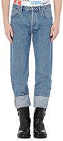 Loewe Men's Cuffed Straight Leg Jeans