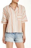 Flying Tomato Side Slit Striped Shirt