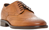 Bertie Butcher Round-toe Leather Derby Brogues, Tan