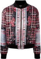 Versus logo printed bomber jacket - women - Polyester/Viscose/Spandex/Elastane/Cotton - 38