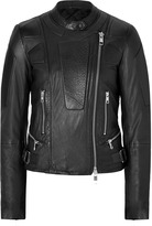 Closed Leather Panther Jacket in Black