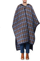 Stella McCartney Check Mohair Oversized Cape